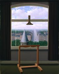 Ren Magritte (Belgian, 1898-1967)<br><i>Promenades of Euclid</i>, 1955<br>Oil on canvas