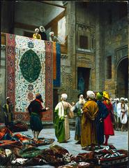 Jean-Lon Grme, <i>The Carpet Merchant</i>, c.1887, oil on canvas
