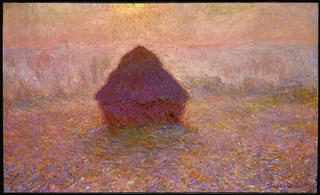 Claude Monet<br>French, 1840-1926<br><I>Grainstack, Sun in the Mist</I>, 1891<br>Oil on canvas<br>Gift of Ruth and Bruce Dayton, The Putnam Dana McMillan Fund, The John R. Van Derlip Fund, The William Hood Dunwoody Fund, The Ethel Morrison Van Derlip Fund, Alfred and Ingrid Lenz Harrison, and Mary Joann and James R. Jundt