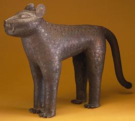 Benin (Nigeria)<br><i>Leopard</i>, 17th century<br>Bronze