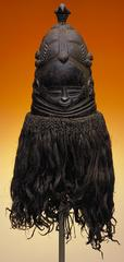 This mask from the Sande Society was worn by a mature woman as part of an initiation ceremony for young girls.