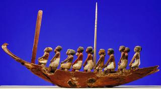 Egypt, <i>Model Boat</i>, 2133-1786 B.C., polychromed wood