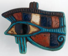 Egypt, <i>Eye of Ra</i>, 1297-1185 B.C., faience and semiprecious stones