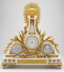 Jean-Antoine Lepine and Joseph Coteau<br>French<br><i>Astronomical mantel timepiece</i>, 1789<br>Marble and gilt bronze<br>Minneapolis Institute of Arts<br>Gift of funds from Mrs. Carolyn Groves