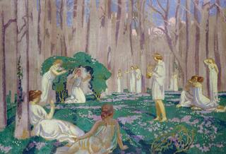 Maurice Denis (French, 1870-1943), <I>Orpheus and Eurydice</I>, 1910, oil on canvas