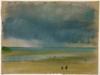 Edgar Degas<br>French, 1834-1917<br><I>Beside the Sea</I>, 1869<br>Pastel on tan paper<br>Gift of Ruth and Bruce Dayton