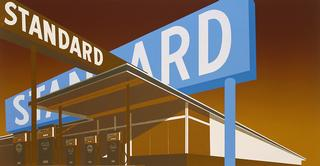 Edward Ruscha and Mason Williams, <i>Double Standard</i>, 1969, color screenprint