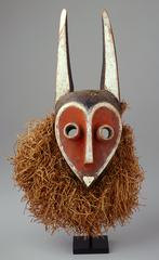 This mask used by the Pende people depicts the female antelope Mbambi.