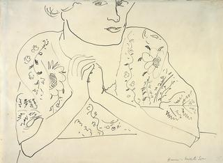 Henri Matisse, French (1869-1954), <i>Woman with Folded Hands</i>, 1918-1919, pen and india ink on white paper, ©Succession H. Matisse, Paris/Artists Rights Society (ARS), New York</i>