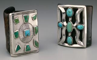 Navajo (Dine)<br><i>Ketoh</i>, 1920<br>Silver, leather, and turquoise<br>Minneapolis Institute of Arts<br>Bequest of Virginia Doneghy