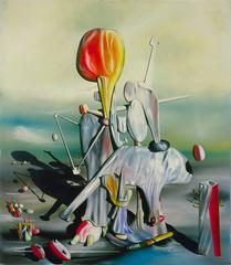 Yves Tanguy (French, 1900-1955)<br><i>Through Birds, Through Fire but Not Through Glass</i>, 1943<br>Oil on canvas