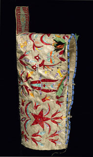 Dakota, <i>Cradle Cover</i>, 19th century, c.1880, animal hide, quills, beads, ribbon, sequins, cloth