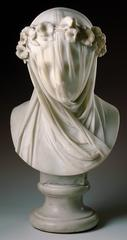 Raffaelo Monti, Italian, <I>Veiled Lady</I>, c. 1860, marble