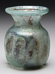 Roman/Near Eastern<br><i>Jar</i>, 1st-5th century A.D.<br>Glass<br>Minneapolis Institute of Arts<br>Gift of Mr. and Mrs. I. D. Fink