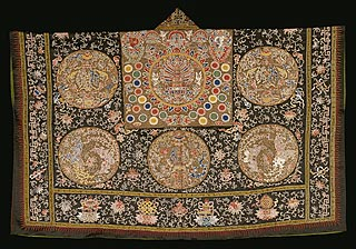 China, <i>Taoist Priest's Robe</i>, 1662-1722, embroidered satin