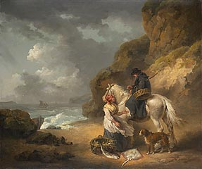 George Morland<br><i>Selling Fish</i>, 1792<br>Oil on canvas<br>Minneapolis Institute of Arts<br>Gift of the Paintings Council