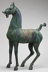 China, <I>Celestial Horse</I>, Eastern Han dynasty, bronze with traces of polychrome, Minneapolis Institute of Arts, Gift of Ruth and Bruce Dayton
