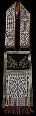 <H6>Anishinabe (Ojibwe) culture<br>Great Lakes/Woodlands region (United States)<br><i>Bandolier bag</i>, about 1870<br>Beads, cotton, wool<br>Minneapolis Institute of Arts<br>Gift of Mary Joann Jundt</H6>