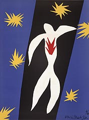 Henri Matisse, French (1869-1954), <i>Fall of Icarus, frontpiece from Verve </i>, 1945, lithography reproduction of gouache cutout ©Succession H. Matisse, Paris / Artists Rights Society (ARS), New York