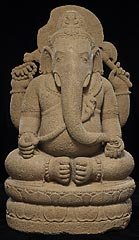 Indonesia, Eastern Java, Sailendra dynasty, <I>Ganesha</I>, volcanic stone (andesite), Minneapolis Institute of Arts, Purchase through Art Quest 2003 and The William Hood Dunwoody Fund