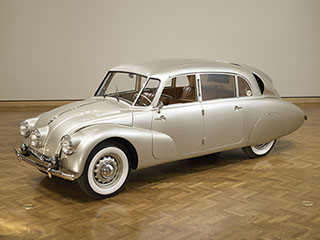 Hans Ledwinka, <i>Tatra T-87 Four-Door Sedan</i>, 1948 (designed 1936), all-metal construction